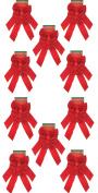 Red Velvet Christmas Bow 23cm X 41cm , 20 Pack of Holiday Bows