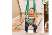 Baby Activities-ExerSaucer® Bumbly Door Jumper-Green- Stimulate Baby, Provides Entertainment And Exercise For Baby!