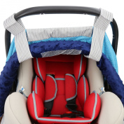 Infant Car Seat Covers with Window By Rench Babies, Fits Major Car Seat Brands, 100% Cotton, Ultra-soft and Luxurious, Beautiful Pattern, Adjustable Strap That Fits Securely, Perfect Baby Gifts