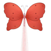 The Butterfly Grove Emily Butterfly Curtain Tieback for Baby, Coral Red, Small/13cm x 10cm