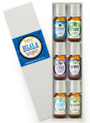 Relax & Rejuvenate Set 100% Pure, Best Therapeutic Grade Essential Oil Kit - 6/10mL
