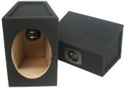 Car Audio Custom 15cm X 23cm Sealed Hi Quality Pair Speaker Enclosure Unloaded Box