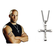 Silver Alloy Fast and Furious Vin Diesel Pendent Necklace
