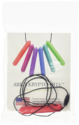 Ark Therapeutic Krypto-Bite Chewable Gem Necklace Chewelry Soft Red