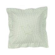 Wellyou Cosy Pillow Cover, Green Gingham Cheque Design, 40X40cm