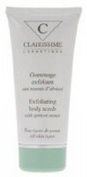 Clairissime Exfoliating Body Scrub 100ml - with apricot stones - By SONIK PERFORMANCE - helps eliminate dead skin cells and impurities while preserving and softening and renew skin