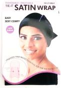 Magic Collection Tie-it Satin Wrap Fashionable Breathable Lady Dursg # 2139 BLA***