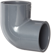 Spears 806 Series PVC Pipe Fitting, 90 Degree Elbow, Schedule 80, 5.1cm Socket