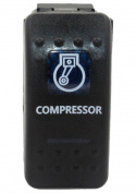 """SUNDELY® """"COMPRESSOR"""" 12V 24V ON/OFF Rocker Switch with Blue LED Backlit Carling ARB Narva Style"""