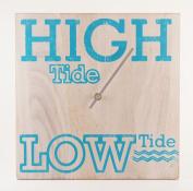 Tide Clock - Wood Distressed White - Handmade - Beach Lover
