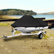 BLACK TRAILERABLE PWC PERSONAL WATERCRAFT COVER COVERS FITS 2-3 SEAT OR 320cm - 340cm LENGTH WAVERUNNER, SEA DOO, JET SKI, POLARIS, YAMAHA, KAWASAKI COVERS