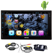 18cm Android 4.2 Universal Autoradio Car GPS Navigation Player Support GPS /Bluetooth/USB/FM/AM Radio WiFi Dual Core-CPU Capacitive HD Touch Screen Stereo In-dash Headunit + Free Wireless Rear Camera