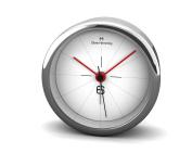 OLIVER HEMMING DESIRE EXTREME 80MM CHROME STEEL ALARM CLOCK