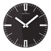 OLIVER HEMMING VITRI 300MM DOMED GLASS WALL CLOCK