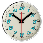 OLIVER HEMMING SIMPLEX 300MM CHROME STEEL WALL CLOCK THIN RI
