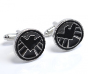 The Avengers Age of Ultron Black and Silver Cufflinks - Justice League Superhero Marvel S.H.I.E.L.D. Cuff Links