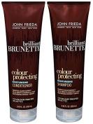 John Frieda Brilliant Brunette Colour Protecting Moisturising, DUO set Shampoo + Conditioner, 250ml, 1 each