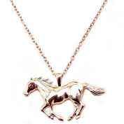 Long necklace pendant with chain necklace necklace of Horse Galloping Horse