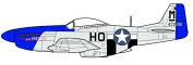 """Oxford Diecast 1:72 Scale """"Mustang P51 Authenic Livery"""" Model Planes of WWII Collection"""