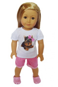 YORKIE SHORTS SET FOR AMERICAN GIRL DOLLS