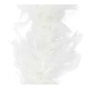 Fluffy Chandelle Feather Boa - White