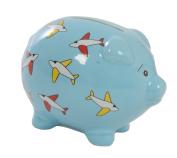 Suki Gifts Aeroplane Piggy Bank