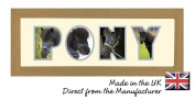 Pony Photo Frame Name Frame Word Frame Light Oak Wood Finish Birthday Picture Gift Present by Photos in a Word