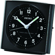 Radio Controlled Bedside Alarm Clock, Quartz/Battery Operated with Light. Black Case. QHR021K