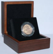 1974 Gold Full Sovereign - Luxury Walnut Presentation Case with Air Tight Coin Capsule