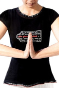 Women's yoga top-great for meditation -organic- mantra datail