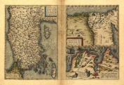 Reproduction Antique Map of Turkey, Cyprus, Tunis (Tunisia) & Egypt by Abraham Ortelius A1 Size 78 x 57 cm