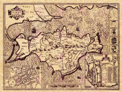 MAP ANTIQUE SPEED 1610 ISLE WIGHT HISTORIC LARGE REPLICA POSTER PRINT PAM1223