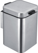 Square Pedal Bin 3 Litre Stainless Steel Chrome Wall Mounted
