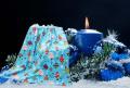 Xmas / Christmas Baubles Polar Fleece, Throw Blanket, Suitable for Chair or Bed, Machine Washable, 127cm x 152cm,