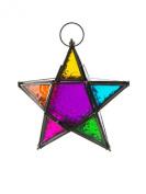 Moroccan style star hanging glass lantern Fair Trade