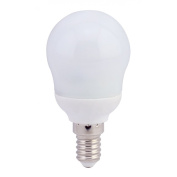 "6 Pack of 7w = 35w Golf Ball Shaped Energy Saving Light Bulbs CFL ""A"" Energy Rated Lamps Warm White Colour Light"