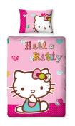 Character World 135 x 200 cm Hello Kitty Folk Single Panel Duvet Set, Multi-Colour