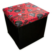Kids Red & Black Star Wars Themed Collapsible Folding Storage Ottoman