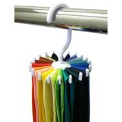 LEORX 20 Bar Plastic Tie Hanger,Coat Scarf Hanger Rack Mens Belt Organiser,360 Degrees Rotating
