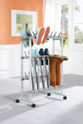 RUCO V 194 Wheeled Shoe and Boot Trolley Rack