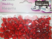 table gems - premium table diamantes - red hearts - 12mm