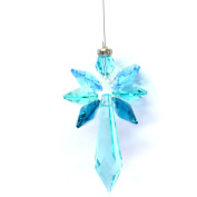Radiant Blue Zircon Guardian Angel - Hand Made in the UK with. R) Elements - Rainbow Making Suncatcher Hanging Crystal Gift