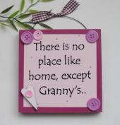 Granny Gift Pink Wooden Keepsake Plaque