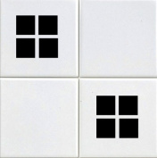 20 X Squares Tile Transfer Decal Stickers Kitchen Or Bathroom Black