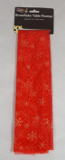 Stunning Red And Gold Snowflake Christmas Table Runner 140cm x 41cm Approx (DP55) A