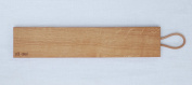 Quality Solid Oak Baguette Chopping Board 350 x 100 x 24mm with Leather Handle