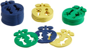 Ruco Apple Sock Clips Sorted by Colour Pack of 20 rot+gelb+grün