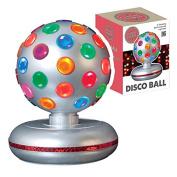 Global Gizmos 45800 E14 Small Edison Screw 25 Watt 1 Global Gizmos 15cm Rotating Disco Ball Light, Silver