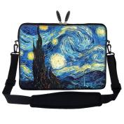 Meffort Inc 17 44cm Neoprene Laptop Sleeve Bag Carrying Case with Hidden Handle and Adjustable Shoulder Strap - The Starring Night