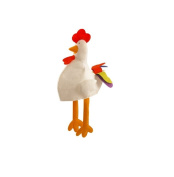 White CHICKEN HAT WITH LONG LEGS FUNNY NOVELTY CHRISTMAS animal